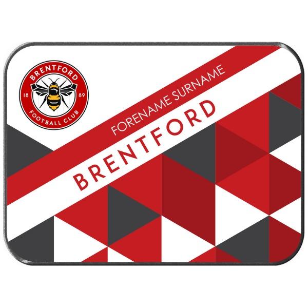 Brentford FC Patterned Rear Car Mat