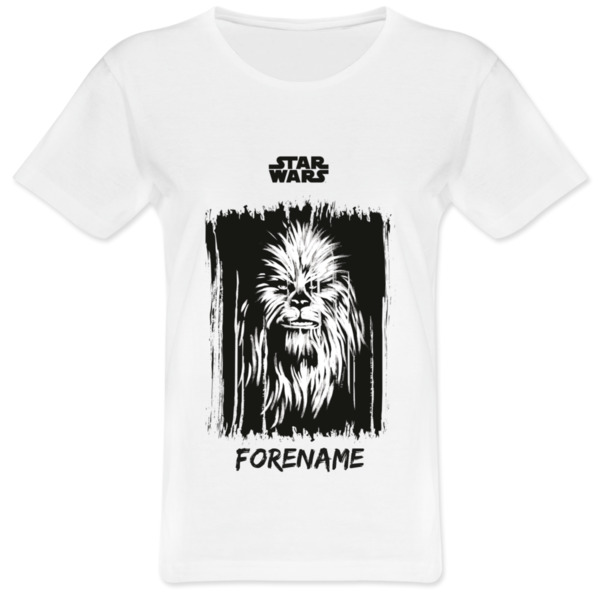 Star Wars Chewbacca Paint  Ladies T-Shirt