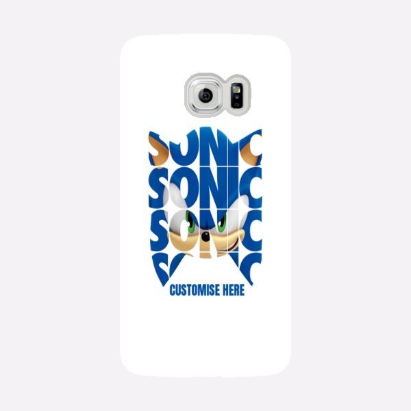 Samsung Galaxy S6 EDGE Phone Case - Sonic Text - Modern sonic