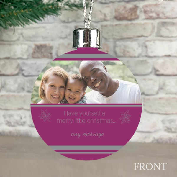 Social Distancing Cerise - Personalised Christmas Bauble