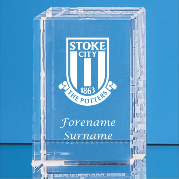 Stoke City FC Crystal Rectangle