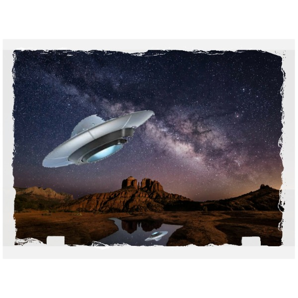 milky over rock - Rectangle Slate Photo Panel