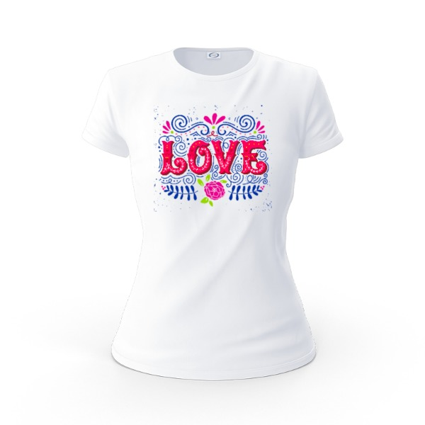 love  - Ladies Solar Short Sleeve Large Print Area