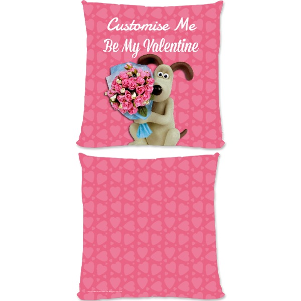 "Aardman Wallace And Gromit ""Be My Valentine"" Large Fiber Cushion"