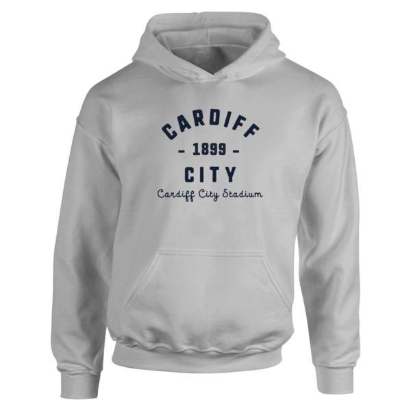 Cardiff City FC Stadium Vintage Hoodie