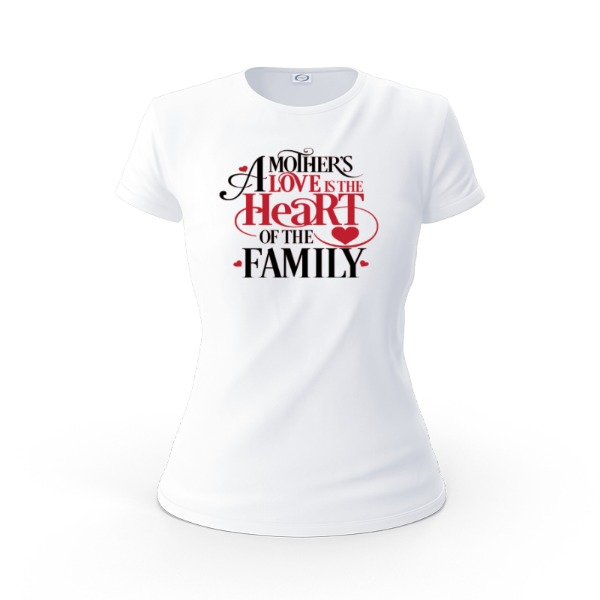 Mother's Heart - Ladies Solar Short Sleeve Small Print Area