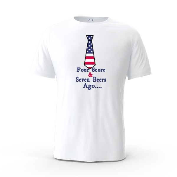 Four Score and Seven beers ago - Mens Solar Short Sleeve