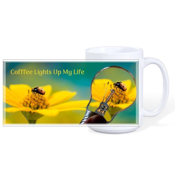 Light Lady Bug - Mug Ceramic White 15oz