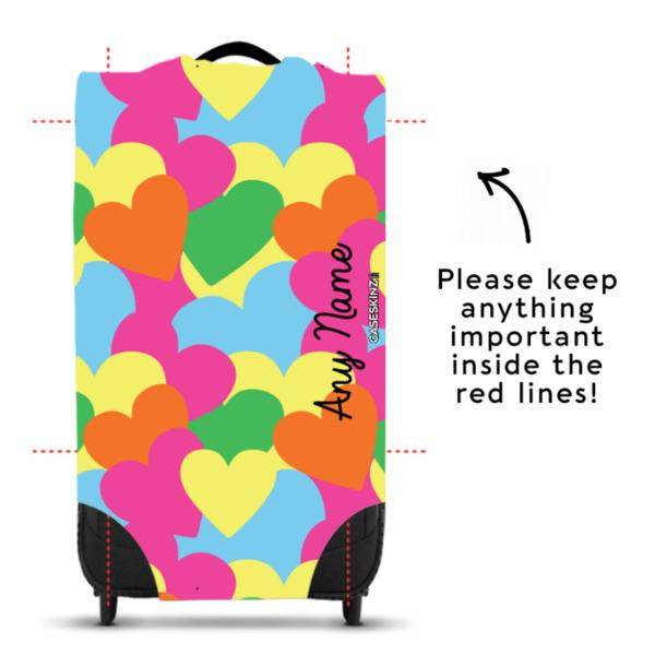 Multicoloured Hearts - Caseskin - S