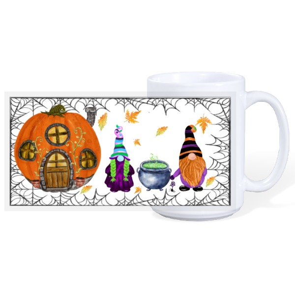 Halloween Gnomes  - 15oz Ceramic Mug