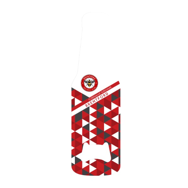 Brentford FC Patterned Bottle Shaped Bottle Opener