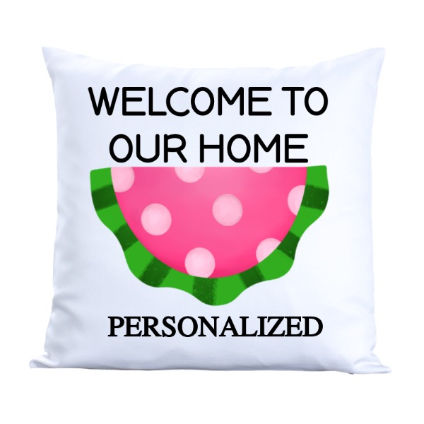 WATERMELON PILLOW - Pillow Cover Polyester Canvas Square 40cm