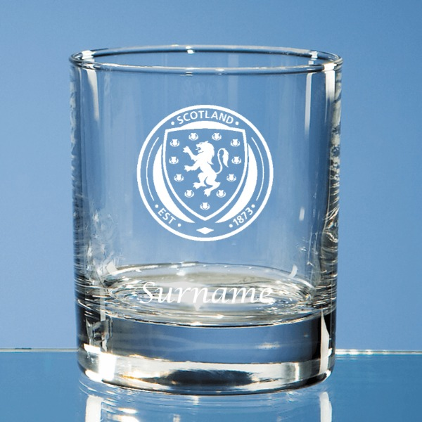 Scotland Crest Bar Line Old Fashioned Whisky Tumbler