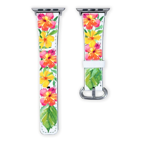 Tropical Hibiscus Watchband - Watchband for Apple Watch 38-22