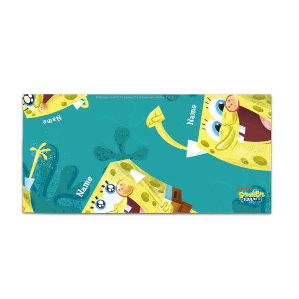 Personalised SpongeBob Towel - Happy