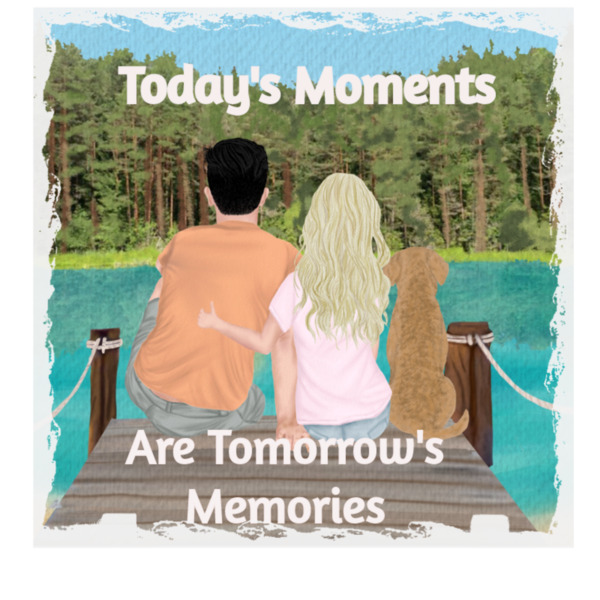 Today's Moments - Photo Panel Stone Square 20x20cm