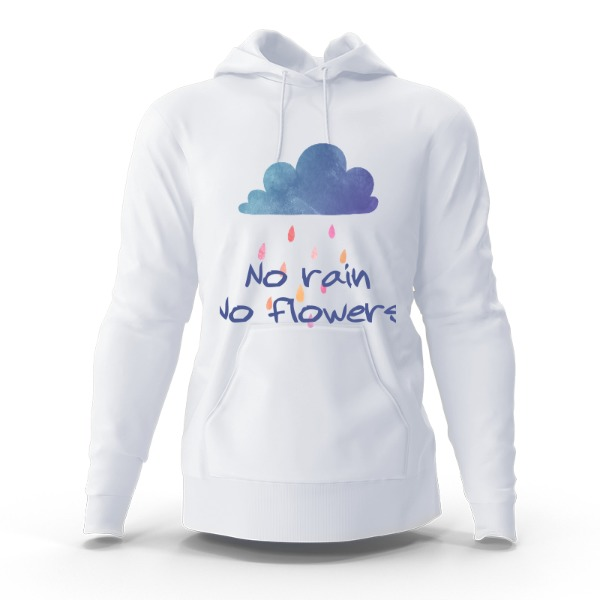 no rain - Hoody Sweatshirt Large Print Area