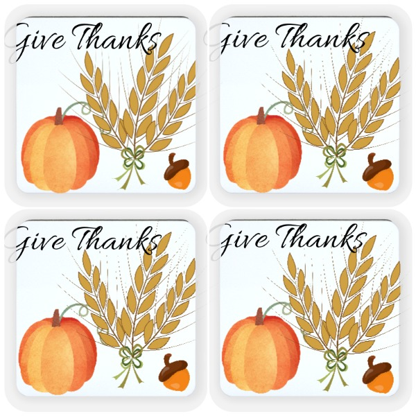Simple Thanks - Square Coaster Set 3.54