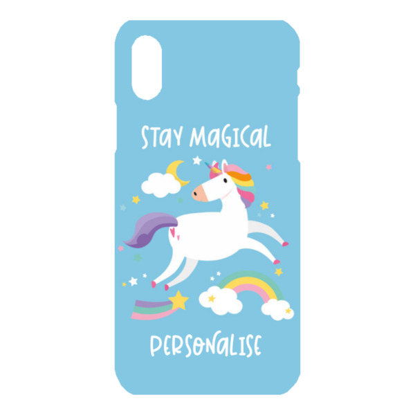Personalised Unicorn iPhone X Hard Back Phone Case