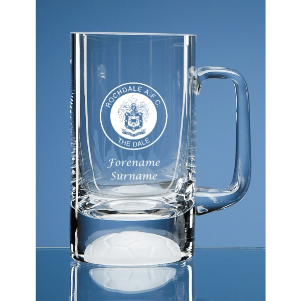 CREST Personalised Small Plain Straight Sided Tankard Rochdale A.F.C
