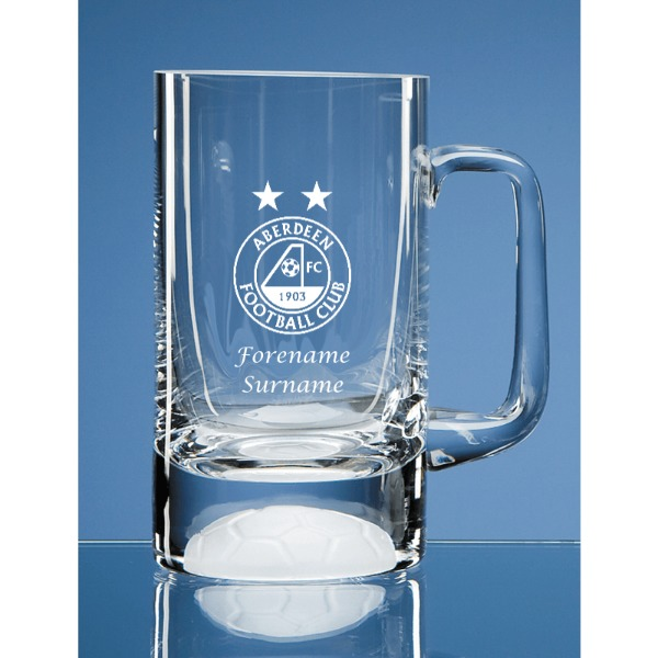 Aberdeen FC Personalised Crest Half Pint Ball Base Tankard