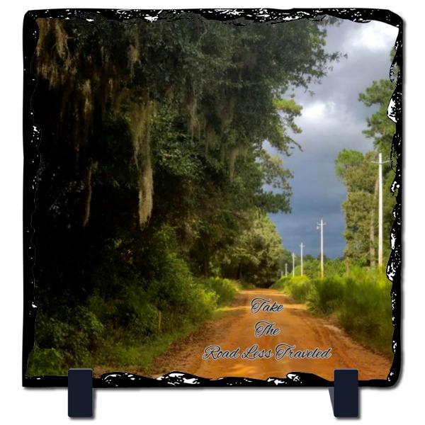 Road Less Traveled - Slate Photo Panel Square