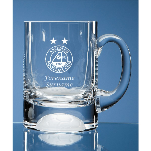 Aberdeen FC Personalised Crest Ball Base Tankard
