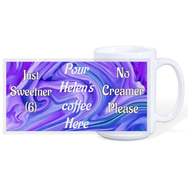 Pour Here - Helen - Mug Ceramic White 15oz