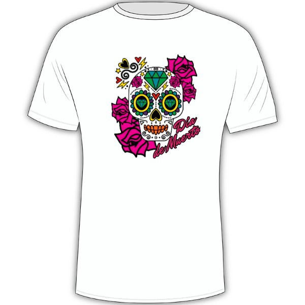 Dia de muertos - Mens Solar Short Sleeve Large Print Area