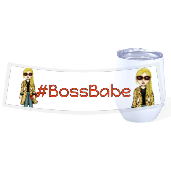 Boss Babe - Travel Wine Cup Stainless Steel White 12oz