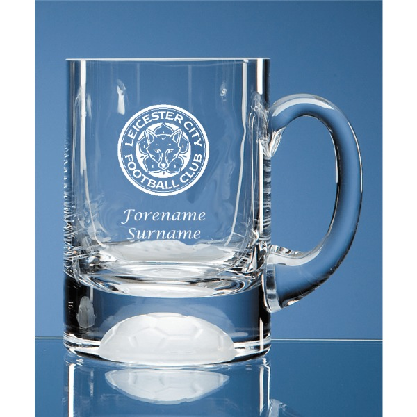 Leicester City FC Personalised Crest Ball Base Tankard