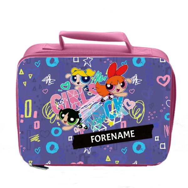 Powerpuff Girls Girls Rock Insulated Lunch Bag - Pink