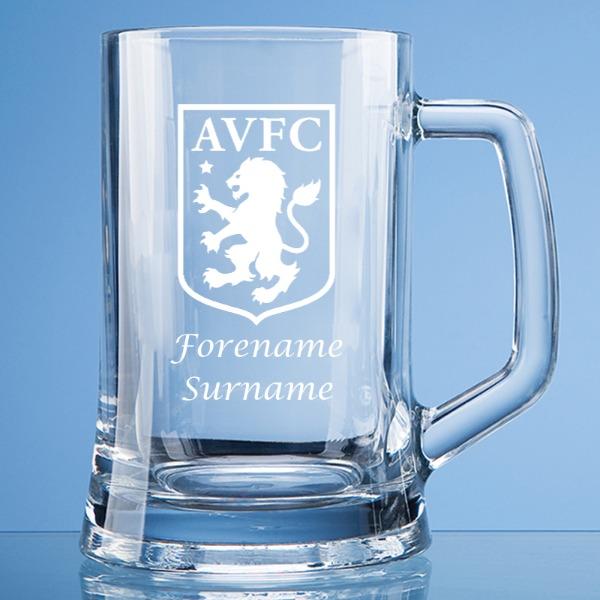 Aston Villa FC Crest Large Plain Straight Sided Tankard