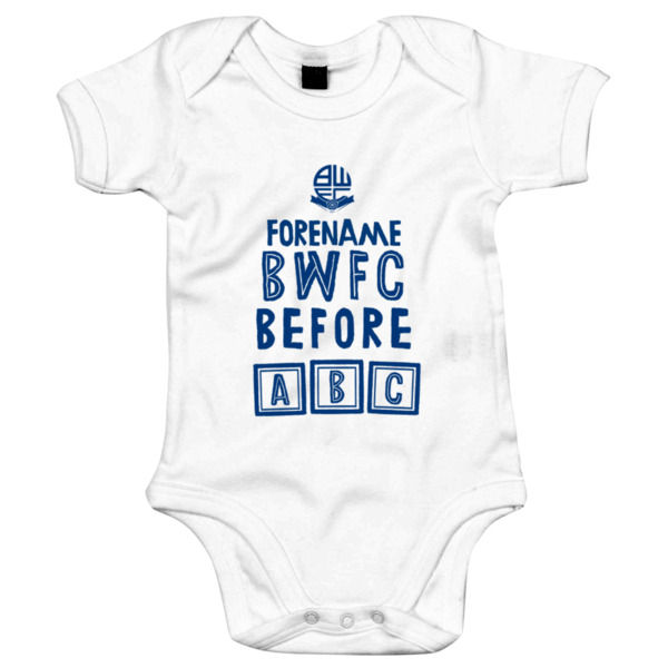 Bolton Wanderers FC Before ABC Baby Bodysuit