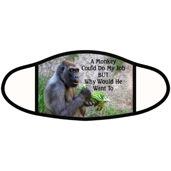Monkey Job mask - Face Mask- Large