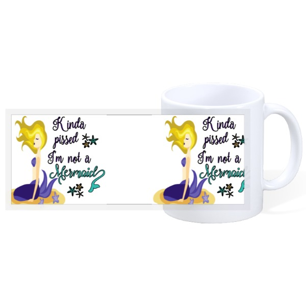 Kinda Pissed Mermaid - 11oz Ceramic Mug