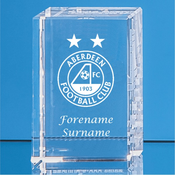 Aberdeen FC Personalised Crystal Rectangle