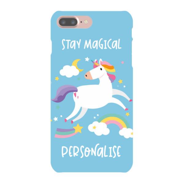 Personalised Unicorn iPhone 7 Plus Hard Back Phone Case