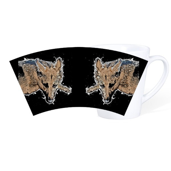 German Shepherd Drawing - Mug Ceramic Latte White 12oz