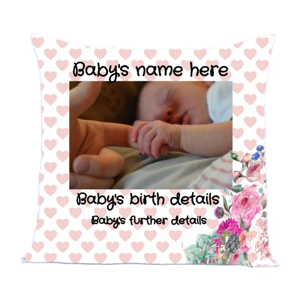 Baby Baby - Pillow Cover Polyester Canvas Square 40cm
