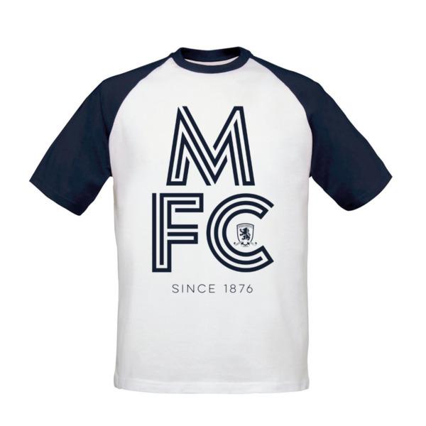Middlesbrough FC Stripe Baseball T-Shirt
