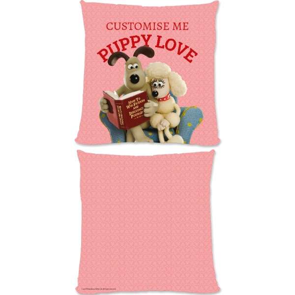 Aardman Wallace And Gromit Puppy Love Large Fiber Cushion