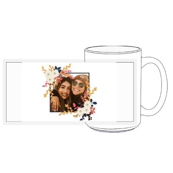 Fall Photo Frame Mug - 15oz Ceramic Mug