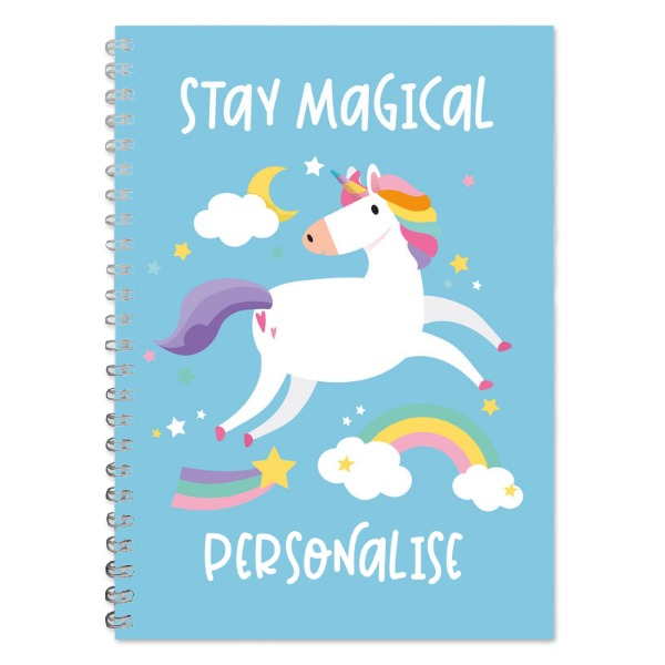 Personalised Unicorn A5 Lined Notepad