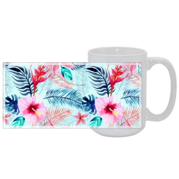 Tropical Mug - Mug Ceramic White 15oz