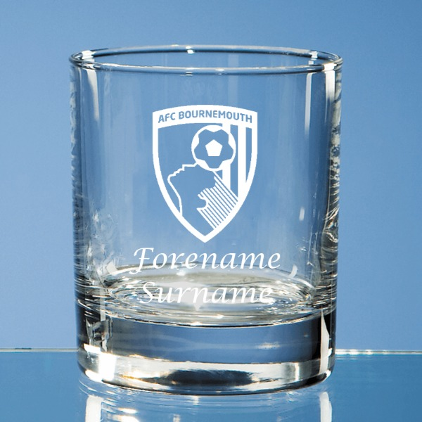 AFC Bournemouth Crest Old Fashioned Whisky Tumbler