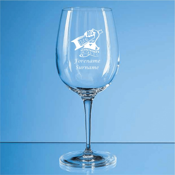 Scunthorpe United FC Crest Allegro Wine Glass