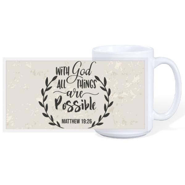WITH GOD - 15oz Ceramic Mug