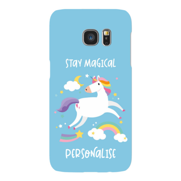Personalised Unicorn Samsung Galaxy S7 Hard Back Phone Case