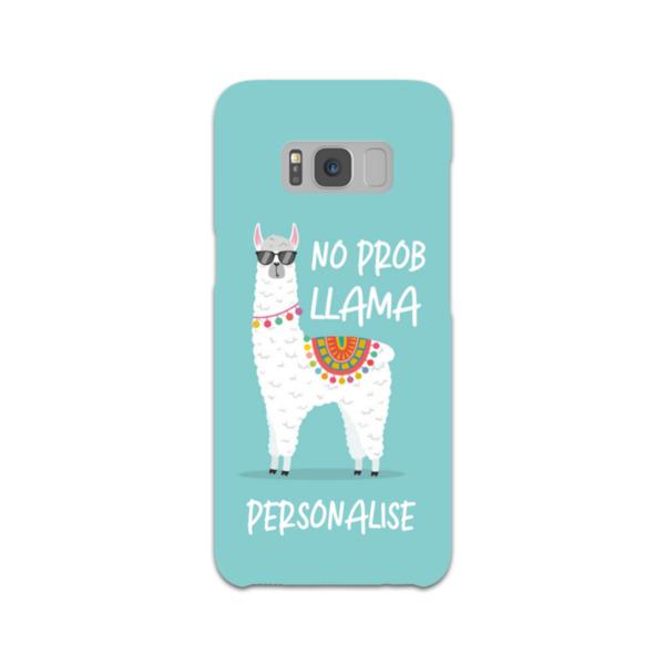 Personalised No Prob Llama Samsung Galaxy S8 Hard Back Phone Case